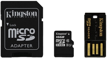 Kingston 16GB microSDHC Class 10 Card Multi Kit