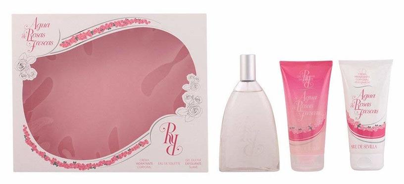 Набор для женщин Instituto Español Aire De Sevilla Rosas 150 ml EDT + 150 ml Body Cream + 150 ml Shower Gel