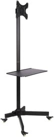 Televizoriaus laikiklis Techly Trolley Floor Stand With Shelf 19 -37'' Black