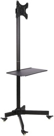 Techly Trolley Floor Stand With Shelf 19 -37'' Black