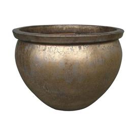 TDS Ceramic Outdoor Plant Pot OPA8-094/1 D37 Brass
