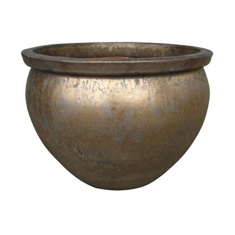 Вазон TDS Ceramic Outdoor Plant Pot OPA8-094/1 D37 Brass