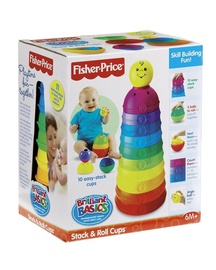 Klucīši Fisher-Price Brilliant Basics Stack & Roll Cups W4472