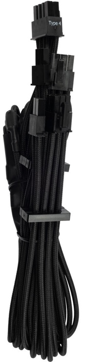 Corsair Premium Individually Sleeved PCIe Cables with Dual Connector Type 4 (Gen 4) Black