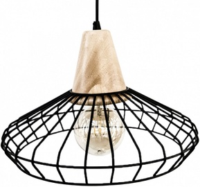 Eglo Norham 49779 Ceiling Lamp 60W E27 Black/Wood