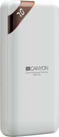 Canyon Compact Power Bank 20000mAh White