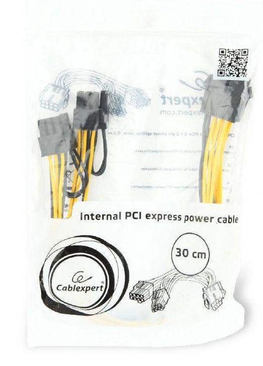 Gembird PCI-E 8-pin to 2x PCIE 6+2 Pin Power Splitter Cable 0.3m CC-PSU-85