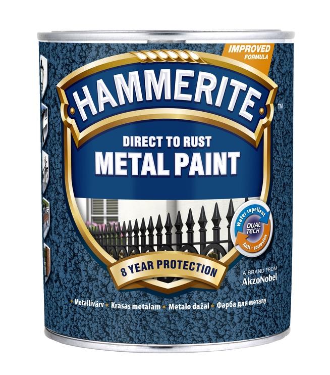 Metāla krāsa Hammerite HN Hammered, 5l, pelēka