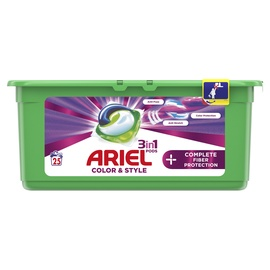 Skalbimo kapsulės Ariel Color&Style, 25 vnt.