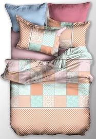 Gultas veļas komplekts DecoKing Basic, zaļa/oranža, 155x220/80x80 cm
