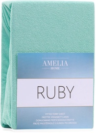 AmeliaHome Ruby Frote Bedsheet 80-90x200 Peppermint 54