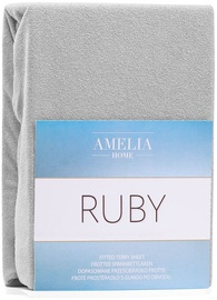AmeliaHome Ruby Frote Bedsheet 120-140x200 Silver 60