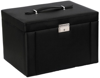 Songmics Jewelry Box Black 29.5x21.8x19.5cm
