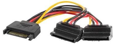 Lanberg Cable SATA / SATA x2 Black 0.15m