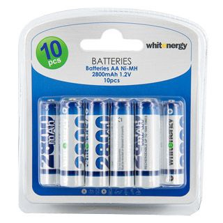 Whitenergy rechargeable battery 10 x AA 2800mAh Blister