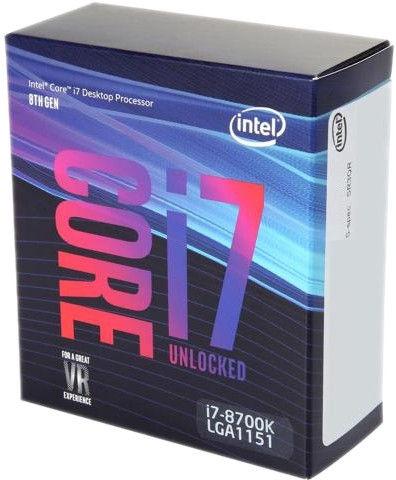 Intel® Core™ i7-8700K 3.7GHz 12MB BOX BX80684I78700K