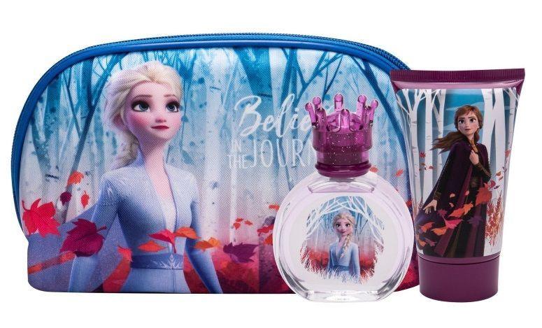 Набор для детей Disney Frozen II 50 ml EDT + 100ml Shower Gel + Cosmetic Bag