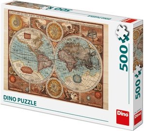 Dino Puzzle Ancient World Map 500pcs