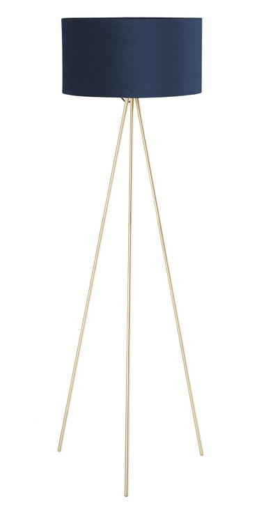 Home4you Trinity Floor Lamp E27 40W Blue/Gold