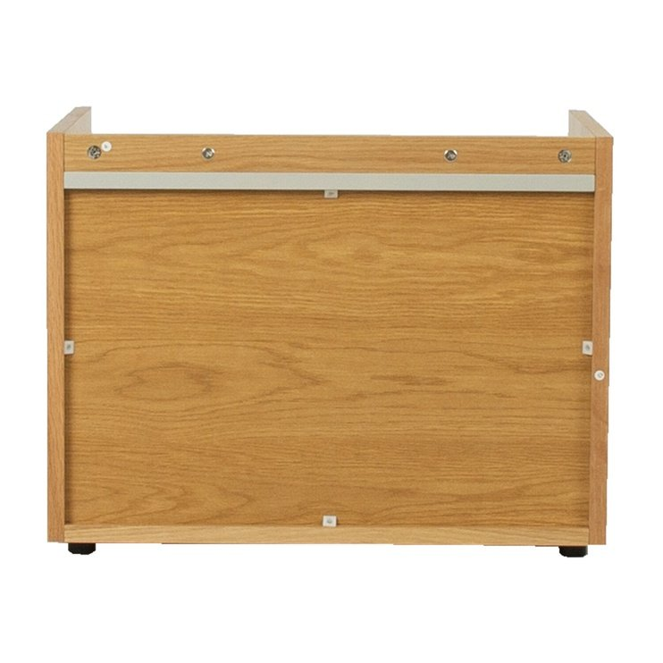 Naktinis staliukas Home4you Block 13837, pilkas/ąžuolo, 60x40x46 cm