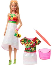 Mattel Barbie Crayola Rainbow Fruit Surprise Doll & Fashions GBK18
