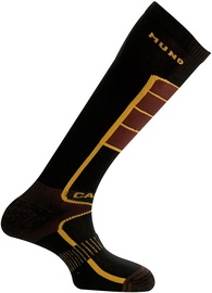 Mund Socks Carving Brown/Black 46-49