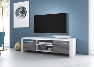 TV galds Vivaldi Meble Manhattan, balta/pelēka, 1400x422x400 mm