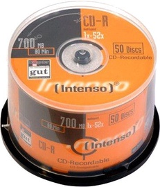 Intenso CD-R 52x 700MB 50pcs. Cake Box 1001625