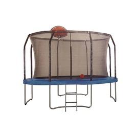 """Batutas 10"""" 305 cm skersmens, su tinklu kopėčiomis ir krepšinio lenta"""
