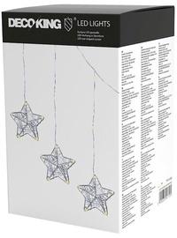 Elektriskā virtene DecoKing LED Star-Shaped Curtains, silti balta, 75 cm