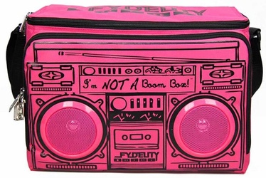 Fydelity Le Boom Box Coolio Thermo Bag with Speakers Pink