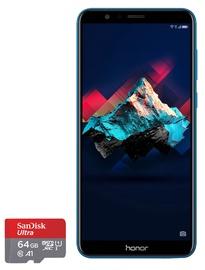 Huawei Honor 7X 64GB Dual Blue with SanDisk 64GB Ultra MicroSD Card