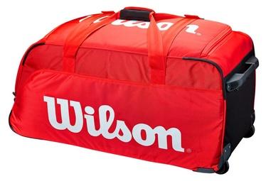 Ceļojumu soma uz riteņiem Wilson Super Tour Travel Bag Red, balta/sarkana