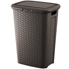 Diana Rattan Laundry Bin 50l Brown
