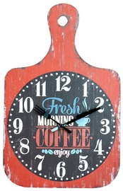 Home4you Wall Clock Coffee 28x44cm Red Wood