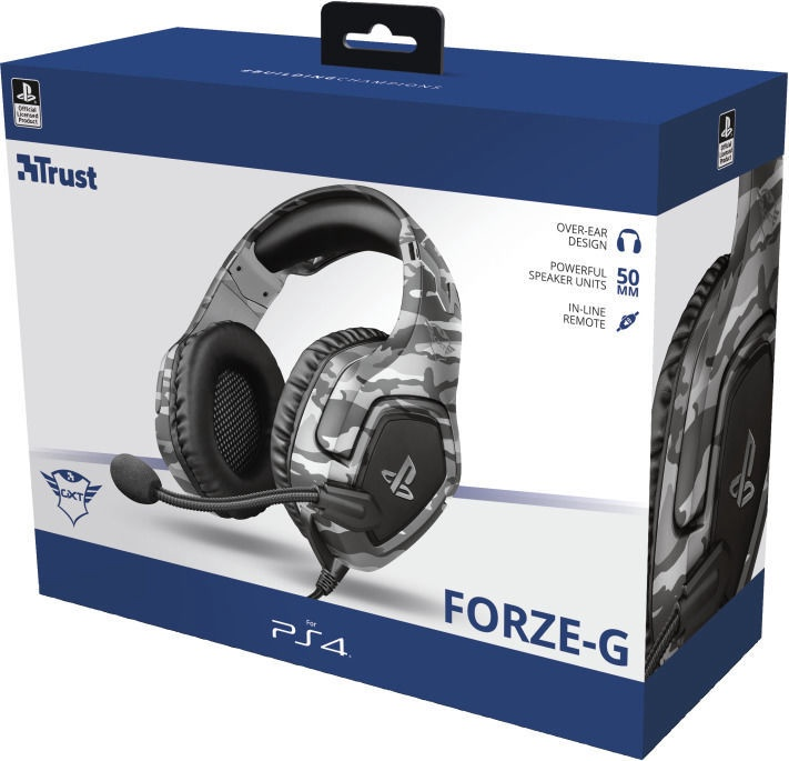 Наушники Trust GXT 488 Forze Over-Ear Gaming Headphones Grey
