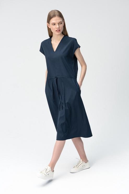 Audimas Shirt Style Dress Navy Blue L