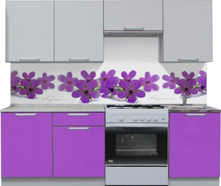 MN Kitchen Unit Simpl 2.1m Violet/White