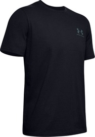 Under Armour Mens Sportstyle LC Back T-Shirt 1347880-001 Black M