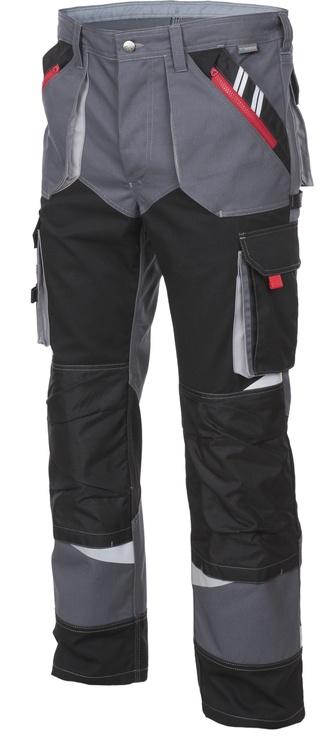 Брюки 10537, черный/серый, XXL