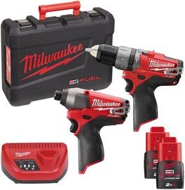 Milwaukee M12 PP2A-202C Cordless Tool Set