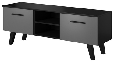 TV galds Vivaldi Meble Nord Black/Graphite, 1400x380x520 mm