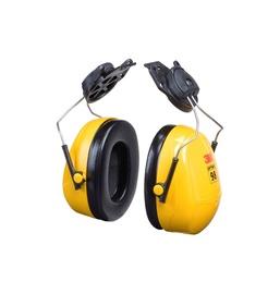 Apsauginės ausinės 3M Peltor Optime, tvirtinamos prie šalmo, geltona