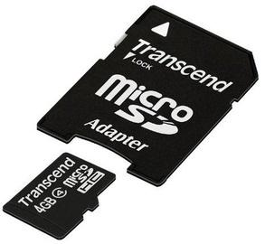 Transcend 4GB Micro SDHC Class 4 + Adapter