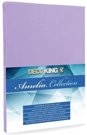 Palags DecoKing Amelia Violet, 180x200 cm, ar gumiju