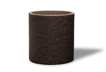 Keter Small Cylinder Planter Whiskey Brown