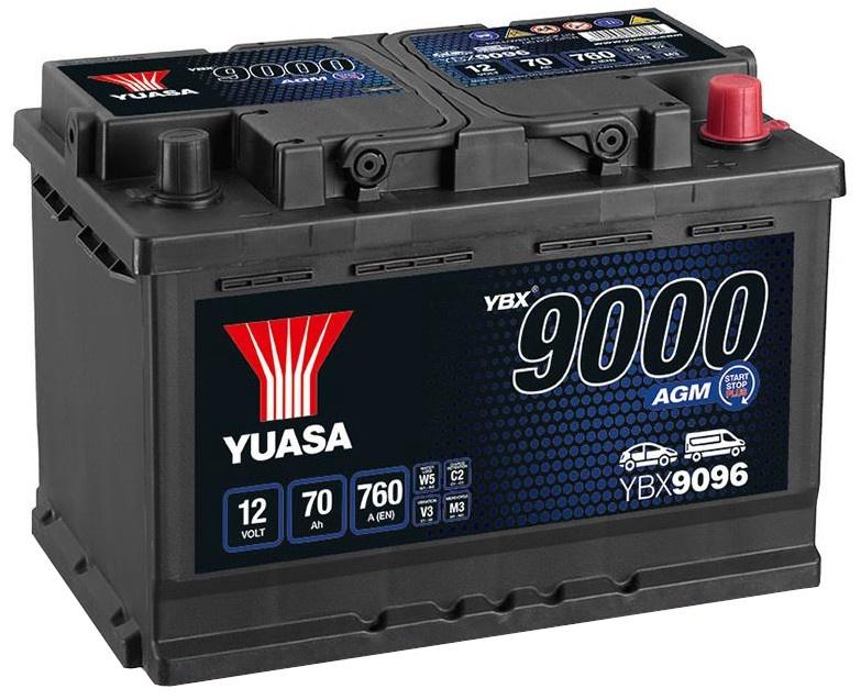 Аккумулятор Yuasa YBX9096, 12 В, 70 Ач, 760 а