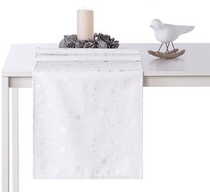 AmeliaHome Stardust AH/HMD Tablecloth Silver 40x140cm