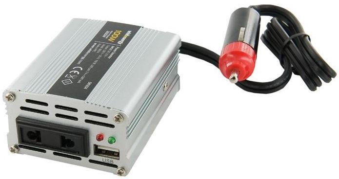 Whitenergy Mini Power Inverter 12V DC To 230V AC USB 100W