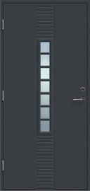 Lauko durys Andre 7R, 21x9 kairinės, pilkos (RAL7016)